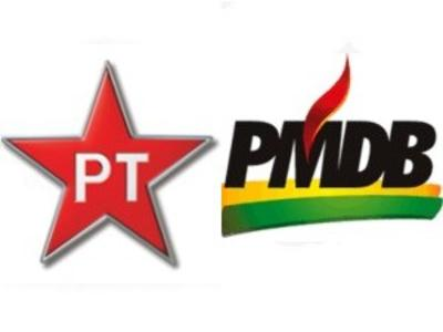 PT e PMDB nas eleições municipais
